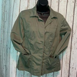 Talbots 8P olive green army style thin coat